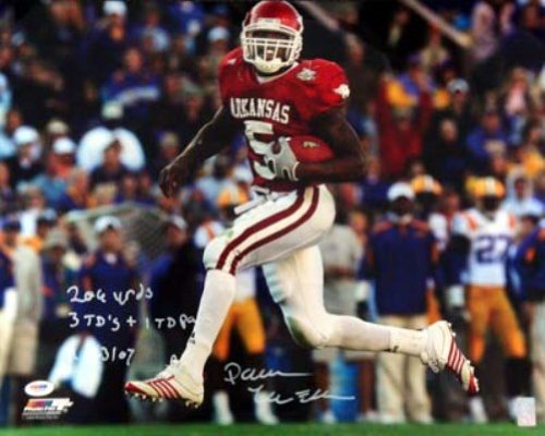 Darren McFadden Signed Arkansas Razorbacks 8x10 Photo - 206 Yds & 3 TD + 1 TD Pass 11/23/07 - PSA DNA at Amazon.com