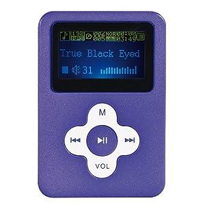 Baladeur MP3, 8 GO, normes audio-numériques MP3, WMA et WAV. MP105VI-8. CLIPSONIC TECHNOLOGY