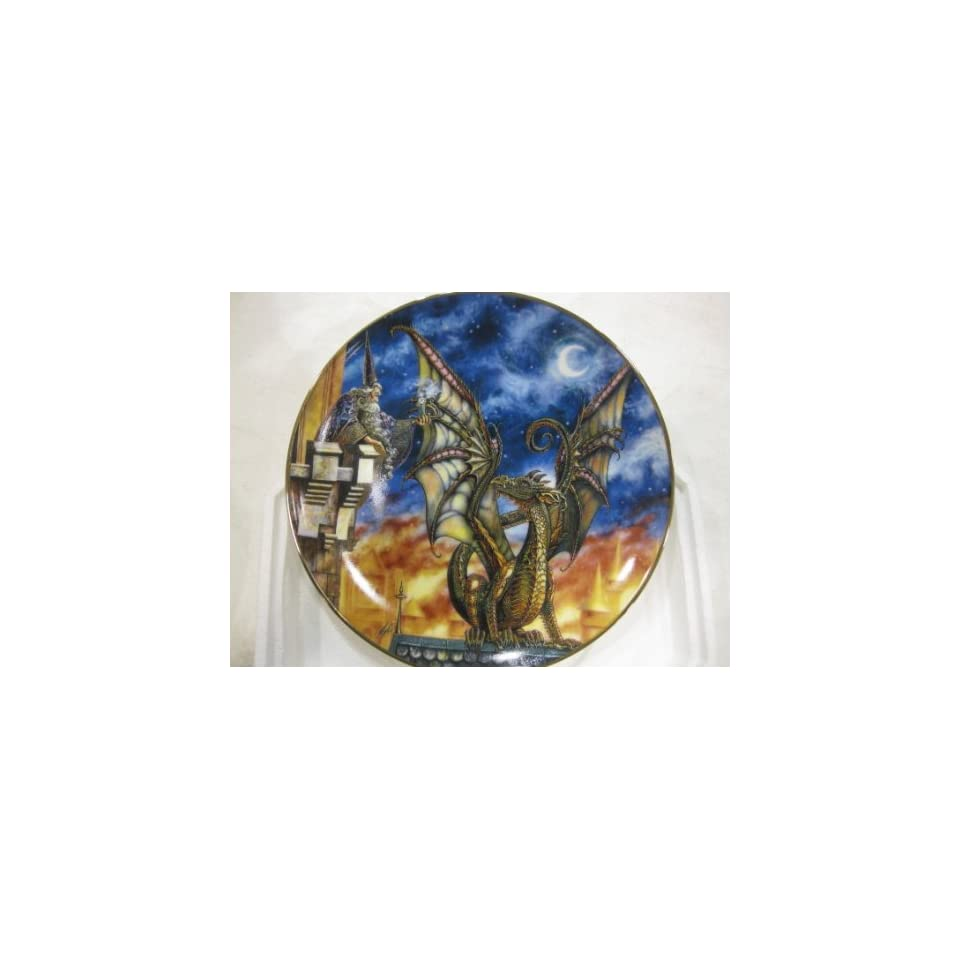 Lure Of The Dragon Collectible Plate by Myles Pinkney from