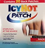 Icy Hot Medicated Large Patch 20 Pack - Menthol 5% - Extra Strength For Back - USA Stock