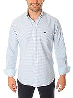 VICKERS Camisa Hombre Harvard (Azul Medio / Blanco)