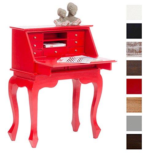 CLP-Holz-Sekretr-MARINA-aus-Mahagoni-handgefertigt-Kolonialstil-aus-bis-zu-8-Farben-whlen-rot