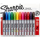 Sanford Sharpie Brush Tip Markers 12/Pkg