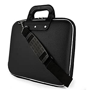 SumacLife Cady Collection Durable Semi Hard Shell Protective Carrying Case w/ Removable Shoulder Strap (Black) for Lenovo ThinkPad X131e Laptop / Lenovo IdeaPad Yoga 11 Convertible Ultrabook / Lenovo ThinkPad Helix 11.6 inch Ultrabook / Lenovo IdeaTab Lynx 11.6 inch Convertible Tablet