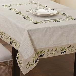 Amazon.com - BST Kitchen & Table Linens Traditional Linen Beige Floral
