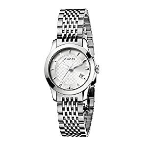 Gucci G-Timeless Collection Women's Quartz Watch with Silver Dial Analogue Display and Stainless Steel Bracelet YA126501