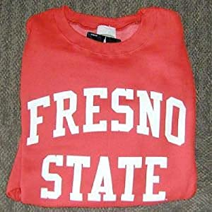 Fresno State Bulldogs Crewneck Sweatshirt, Red by SportShack INC