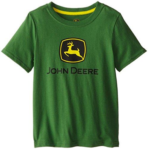John Deere Little Boys' Front Logo Short Sleeve Tee, Green, 5 front-865427