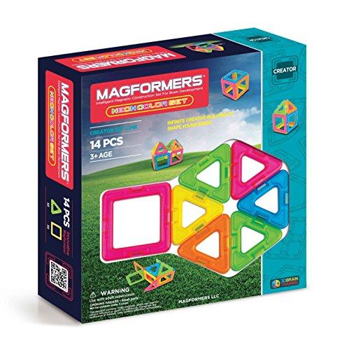 Magformers Creator Neon Color Set (14-pieces) JungleDealsBlog.com