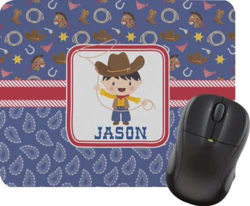 Blue Western Mouse Pad front-995422