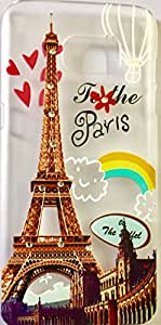 Royal diamond designer SILICONE back case cover with printed crystals and Eiffel tower Paris for SAMSUNG GALAXY S7 EDGE