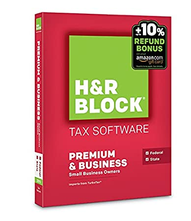 H&R Block 2015 Premium + Business Tax Software + Refund Bonus Offer - PC Disc