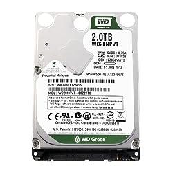 WD Green 2 TB Mobile Hard Drive: 2.5 Inch, SATA II, 8 MB Cache - WD20NPVT