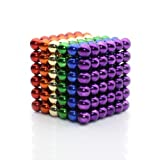 Weirui Magnetic Cube 216pcs Rolytoy Magnets Blocks Magnetic Sculpture Holders Square Cube Children's Puzzle Magic Cubes DIY Educational Toys for Kids (Colorful, 5mm) (Color: Colorful, Tamaño: 5mm)