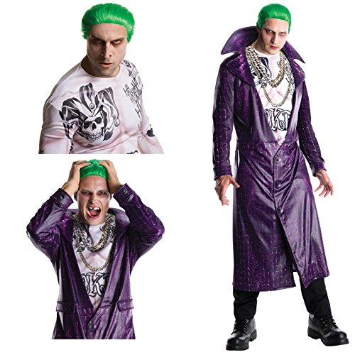 Suicide Squad: Joker Adult Halloween Costume Bundle Set