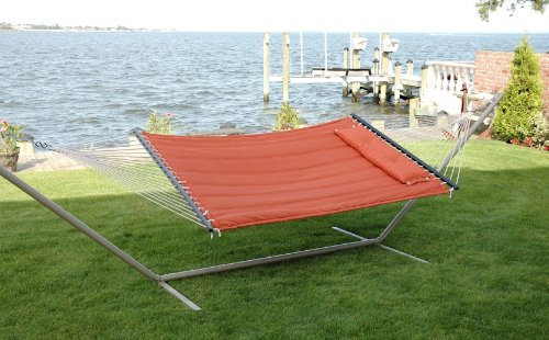 Double S Stitched Classic Comfort Poly Quilted Hammock