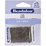 Beadalon 2.3mm Chain Cable for Jewelry Making, Small, Antique Brass