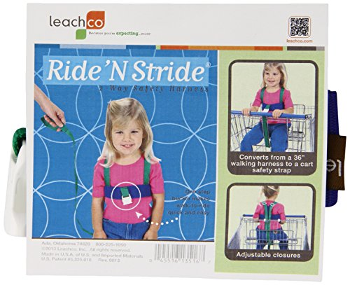 Leachco Ride 'N Stride 2-Way Safety Harness, Green and Blue - 1