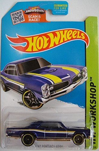 Hot Wheels, 2015 HW Workshop, '67 Pontiac GTO [Metallic Blue] Die-Cast Vehicle #228/250 - 1