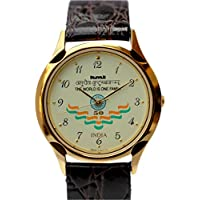 HMT Yellow Dial Analogue Watch for Men (LGGL GJ)