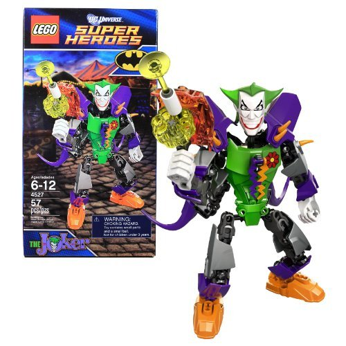 Lego Year 2012 Dc Universe Super Heroes 7 Inch Tall Figure Set #4527 The Joker With Powered Up Suit And Blaster...