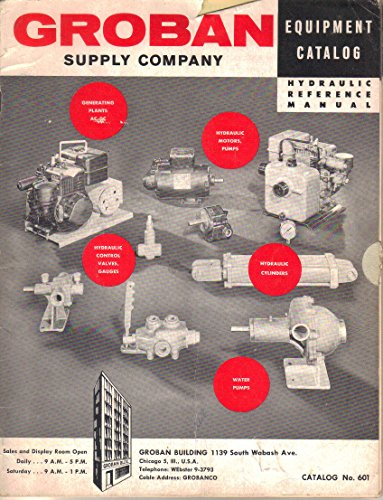 Groban Supply Company Equipment Brochure, Hydraulic Reference Manual, Catalog No. 601