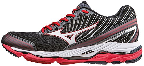Mizuno Wave Paradox Scarpe da corsa, Uomo, Nero (Black (Black/White/Chinese Red)), 44.5 EU (10 UK)
