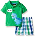 Boys Rock Baby 2 Pc Short Set Checker...