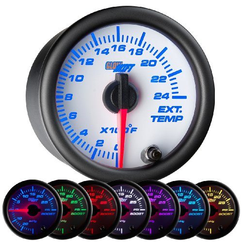 Auto Meter 3657 2-1//16 100-260 F Full Sweep Electric Transmission Temperature Gauge