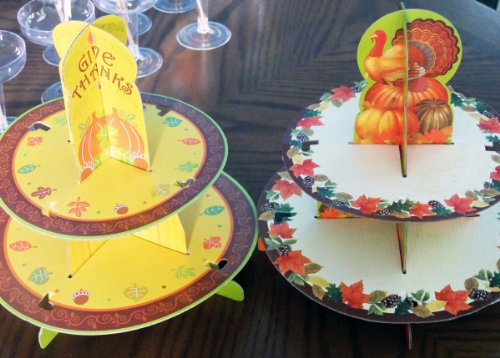 2 Cupacake Stands - Give Thanks & Turkey