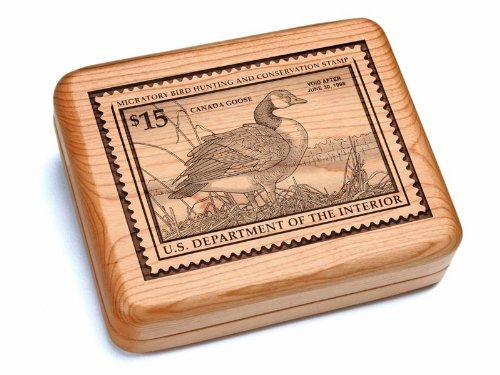 """5X6"""" Box With Double Pocket Knives - Canada Goose Stamp"""