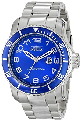 Invicta Men's 15073 Pro Diver Analog Display Japanese Quartz Silver Watch