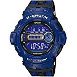 CASIO G-Shock GD-200-2ER - Reloj de caballero de cuarzo, correa de varios materiales color azul claro