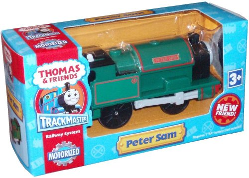 Trackmaster Road and Railway System - Thomas and Friends Motorized Road and Rail Battery Powered Train - PETER SAM the Locomotive Steam Engine