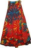 """TLB - Tie Dye Flexible Waist Skirt for Women - L:40""""; W:22""""-36"""" (Flexible)"""
