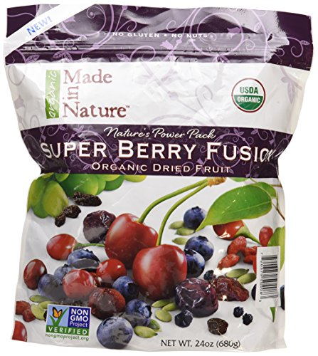 Made in Nature Super Berry Fusion Organic Dried Fruit, 24 Ounce (Dried Organic Fruit compare prices)