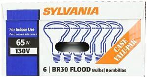 Sylvania 15172 65-Watt 130-Volt BR30 Indoor Flood Light, 6 Pack