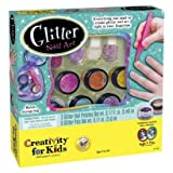 Glitter Nail Art Polish Kit Childs Nail Polish Kit includes Bonus Application tray and Storage Bag
