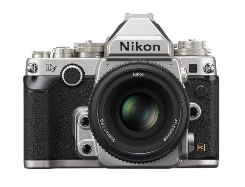 Nikon Df DSLR Camera Kit with AF-S NIKKOR 50mm f/1.8G Special Edition Lens (Silver)