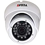 1000TVL 720p AVEESA AV1K-FXW CCTV White Dome Night Vision Security Camera