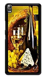 "Humor Gang Wine And Dine Printed Designer Mobile Back Cover For ""Lenovo A7000 - Lenovo A7000 Plus - Lenovo A7000 Turbo - Lenovo k3 note"" (3D, Glossy, Premium Quality Snap On Case)"