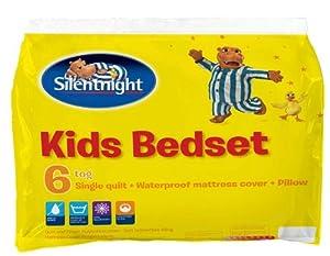 Silentnight Complete Kids Bedset - 6 tog Quilt, Pillow and Mattress Protector