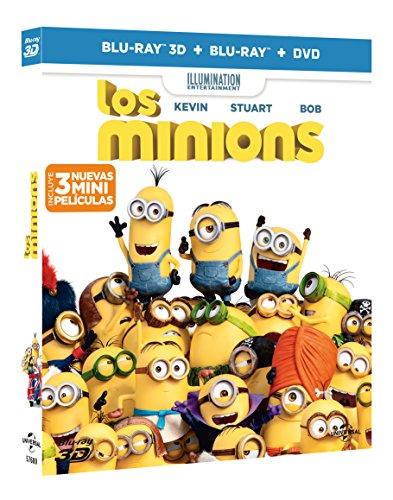 Los Minions (BD 3D + BD + DVD) [Blu-ray]