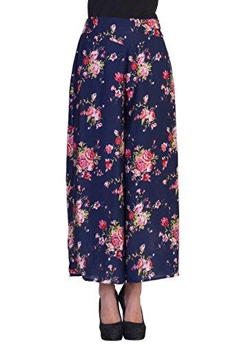 2DAYs-Fashion-Women-Stylish-Multi-Floral-with-Blue-base-Print-Plazzo-Pant