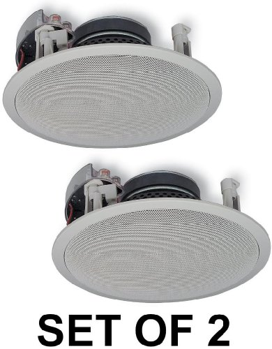 Yamaha Natural Sound Custom Easy-to-install In-Ceiling Flush Mount 2-Way 120 watts Speaker Set (Pair of 2) with 1