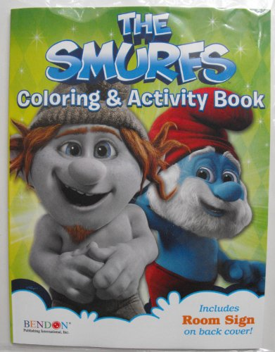 The Smurfs Coloring And Activity Book 64Pg . Color And Do The Puzzles And Games With The Smurfs. Papa, Smurfette, Clumsy, Vanity, Grouchy, Brainy And The Rest Of The Smurfs. Made In The Usa Bendon Publishing Childrens Books. front-10311