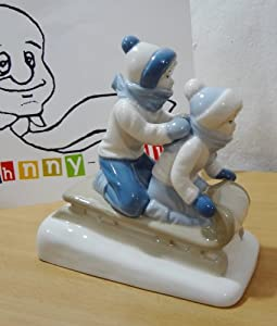Amazon.com: Paul Sebastian Children Sledding Porcelain
