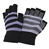 Ladies/Womens Fingerless Magic Gloves with Grip
