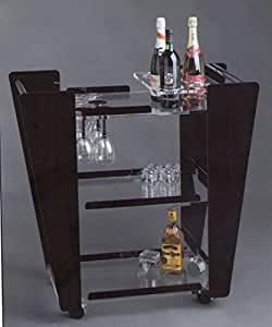 amazon com acrylic serving bar cart by degas designs amazon com mainstays mixed material multi purpose cart