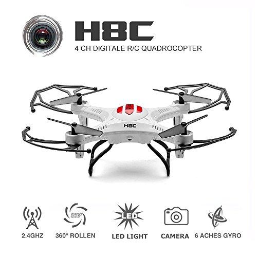 eachine-h8c-cuadricoptero-con-camara-24g-6-axis-rc-teledirigido-quadcopter-rtf-modo-2-blanco